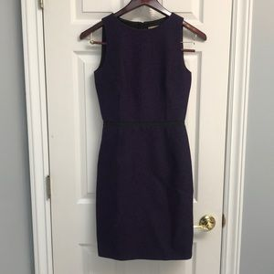 Beautiful purple & black Michael kors fitted dress
